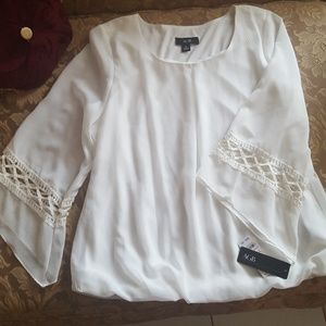 Women blouse ivory